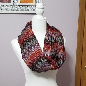 Maurices Multi Colored Infinity Scarf